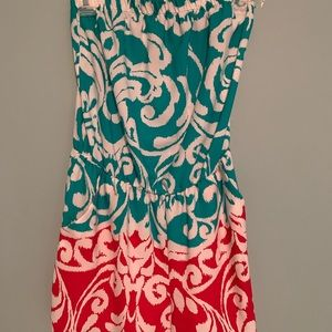 Dresses & Skirts - Sea green and magenta romper